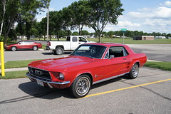 automobile, automotive exterior, wheel, vehicle, first generation ford mustang, boss 429, ford, antique car, land vehicle, muscle car, sports car,