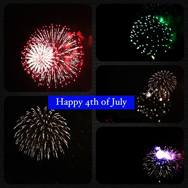 Happy 4th of July!!! My HOA puts on a rad fireworks show. Got my monthly dues worth. We also crashed @cupcakescutlery cul-de-sac party! #Amerikuh