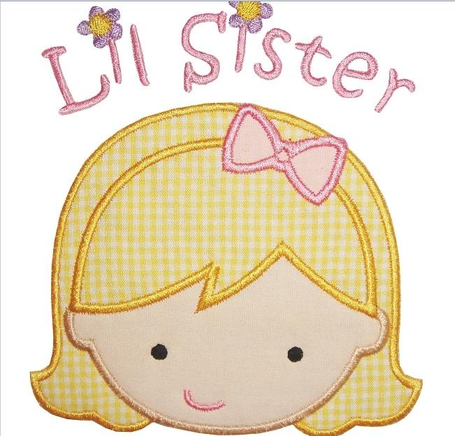 Lil sister applique