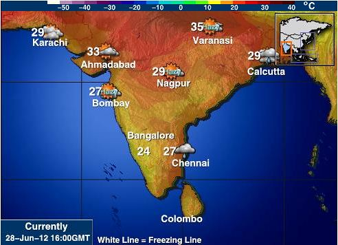 Current Weather conditions in India on 28 June 2012, from intellicast.com