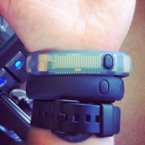Here's a comparison of the Ice vs the regular Fuelband, for you gadgety types