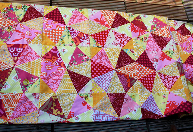 raspberry lemon quilt detail
