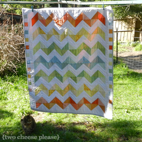 Zig Zag quilt on a clothesline