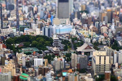 Nakayan's tilt-shift Tokyo The Senso-ji  箱庭 浅草寺