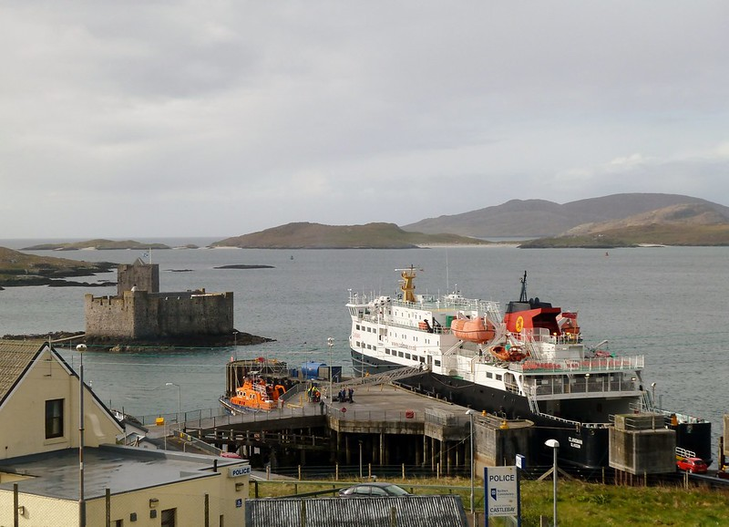 Castlebay and Kisimul Castle, Barra, Scotland