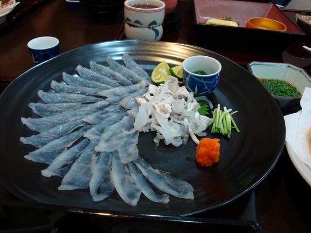 """Fugu """"Puffer Fish"""" Sashimi"""