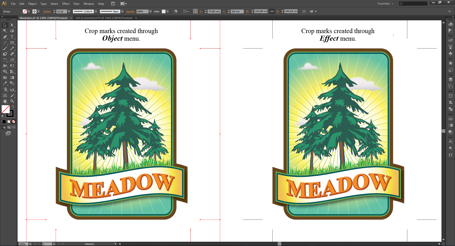 how to crop a pdf in illustrator