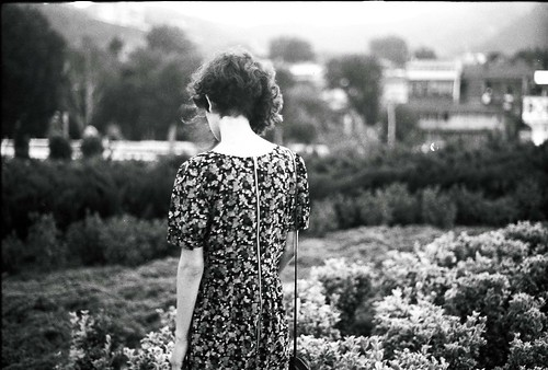 LE LOVE BLOG PHOTO GIRL ALONE IN A GARDEN PARK FLORAL DRESS Silence by Tamar Burduli, on Flickr