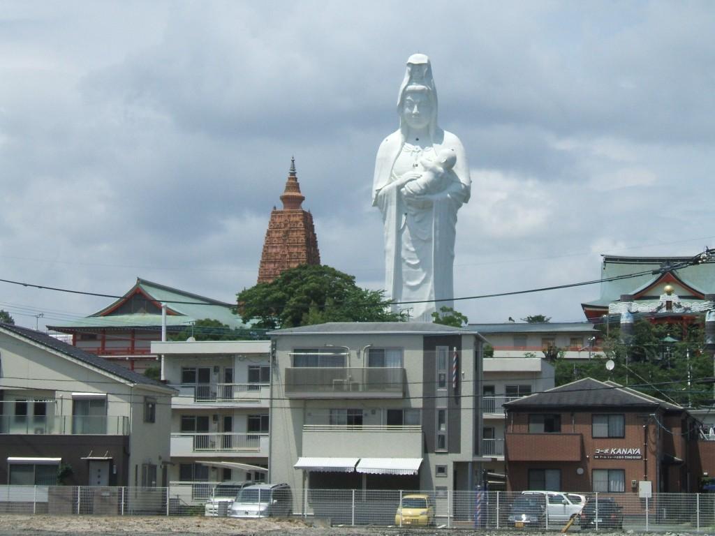 Kannon szobor Kurume-ban