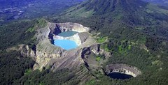 hill station, tarn, crater lake, aerial photography,