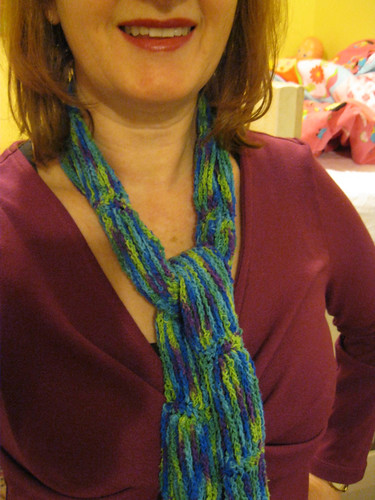 Habu Silk Tweed Kasuri Chains Scarf