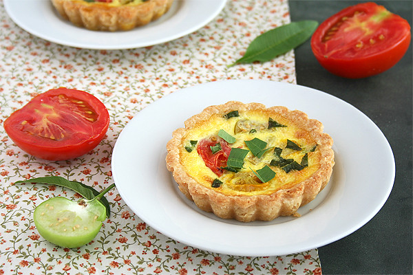 Heirloom Tomato and Tomatillo Tart