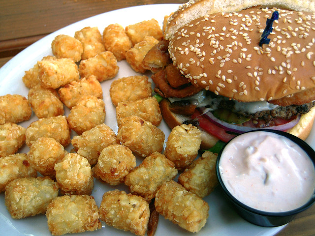 Burger and Tots