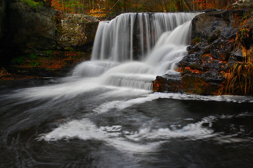longexposure autumn fall nature pool leaves landscape waterfall colorful pennsylvania falls foam swirl 4autumn