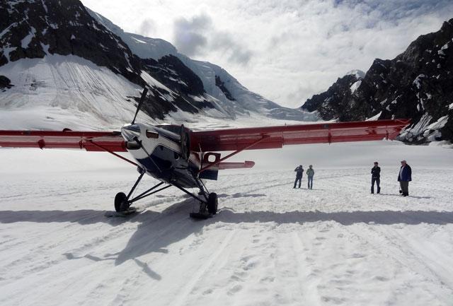 plane-on-glacier