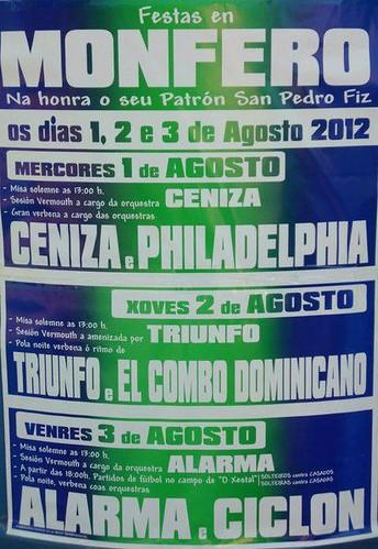 Monfero 2012 - Festas patronais - cartel