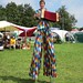 Stiltman in the Children's Area at WOMAD