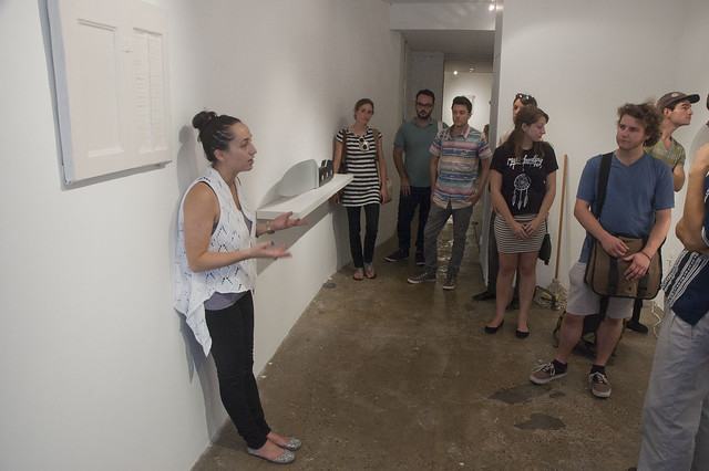 New York Arts Practicum visit Invisible Exports gallery, with Risa Needleman