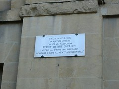 Photo of Percy Bysshe Shelley white plaque