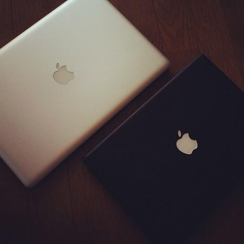 新旧MacBook。 #instagram