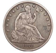 Engraved 1840-O Half Dollar obverse
