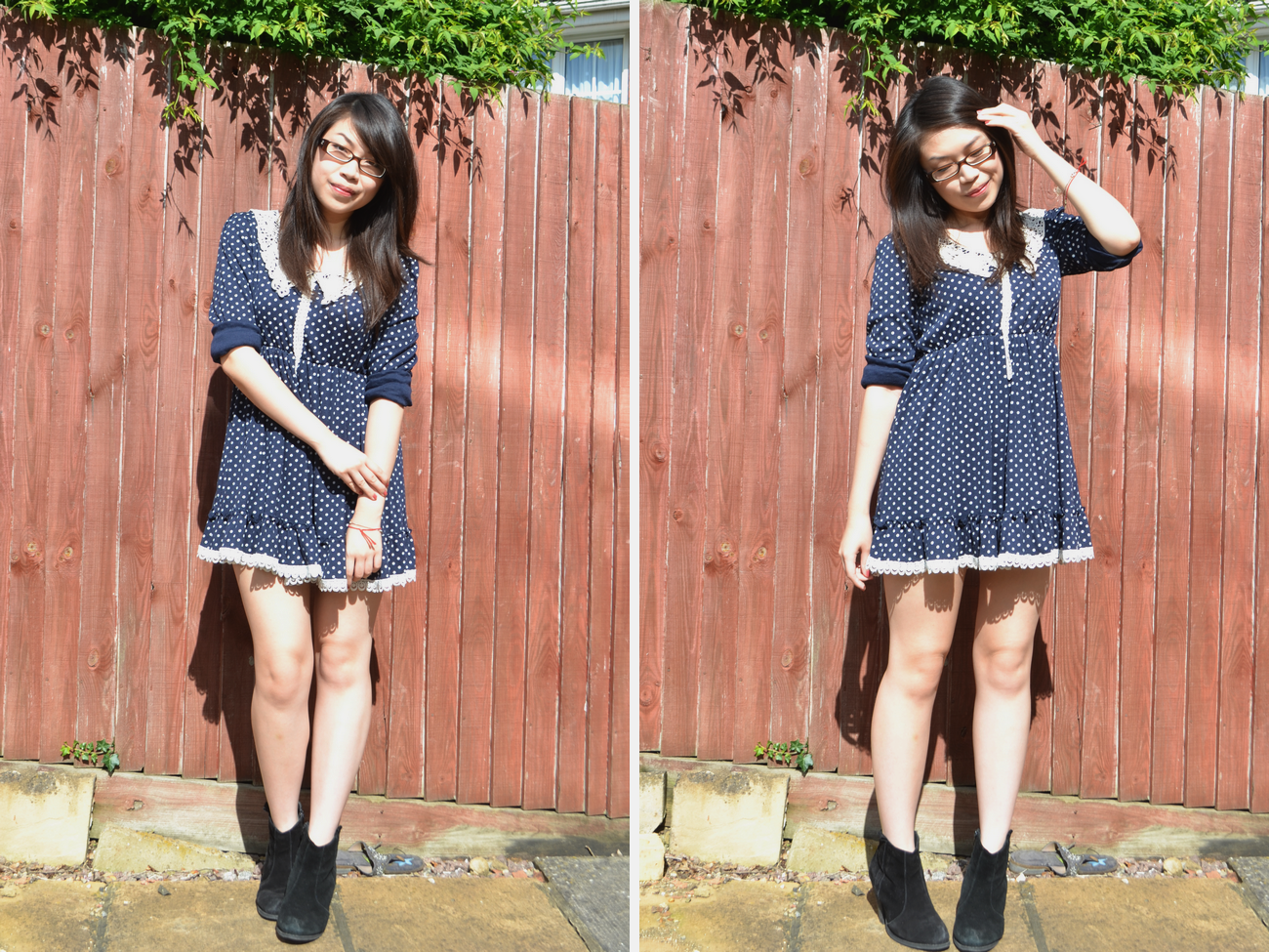 daisybutter - UK Style and Fashion Blog: what i wore, ootd, wiwt, lookbook, polka dots, SS12, ever ours, asos aggie boots, isabel marant dicker boots
