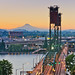Mt. Hood over Hawthorne Bridge by Isaac PDX