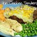 Italian Chicken Tenders w/ Bakers, Peas, & Cantaloupe