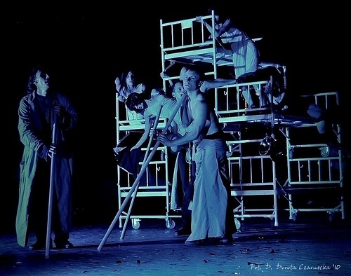 production shot from The Blind by KTO Theatre. Photo credit Dorota Czarnecka