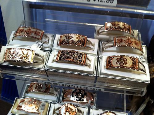Butchart Gardens - Copper Bracelets I Didn't Get