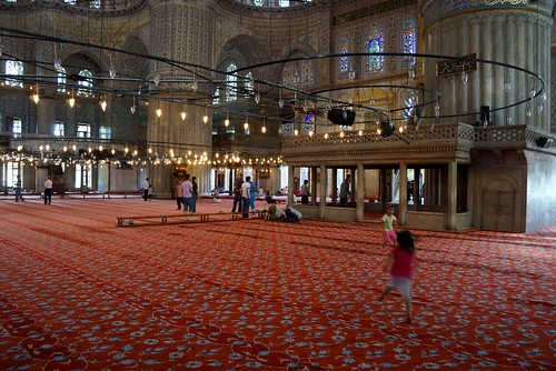 Interior Blue Mosque Istanbul