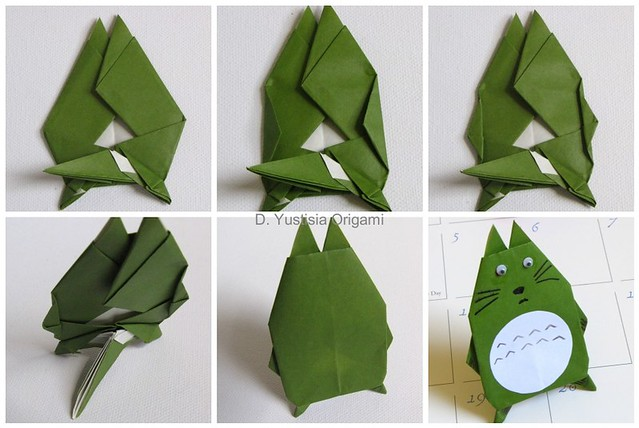 Totoro Origami Step 24-finish