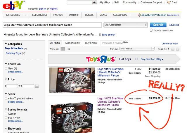 Ultimate Collectors Lego Millennium Falcon - $5,359