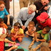 Andrew Mitchell meeting with children from Syria