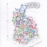 Marche's initial sketch of Bike Tower