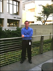 Ian Dowling outside of Air Liquide headquarters in Houston, TX by LAUSatPSU