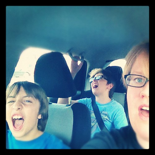 No one looks cool singing aloud on the car