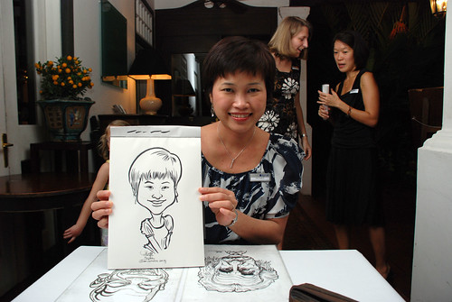 Caricature live sketching for Sycor 10th Anniversary Dinner -1