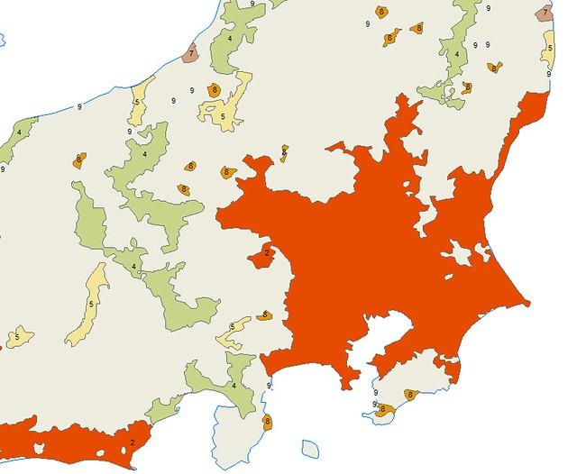 New urban scale ranks, Tokyo