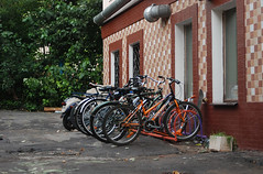 "Bicycle parking near ""Ciferblat"" cafe"