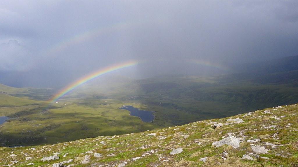 Double rainbow over Glen Einich