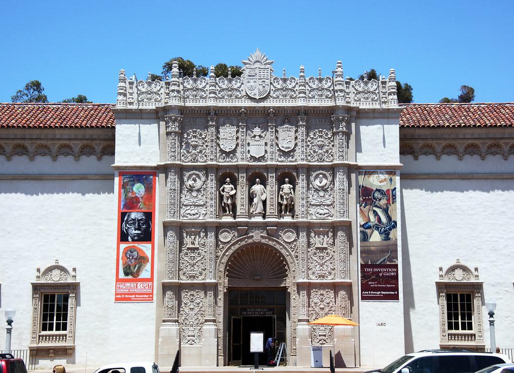 Entrance - San Diego Art Museum - Balboa Park - San Diego California
