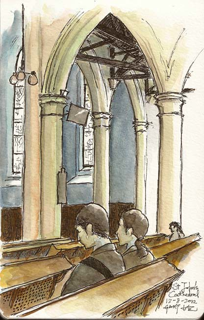 Sketching at St John's Cathedral  中環聖約翰座堂
