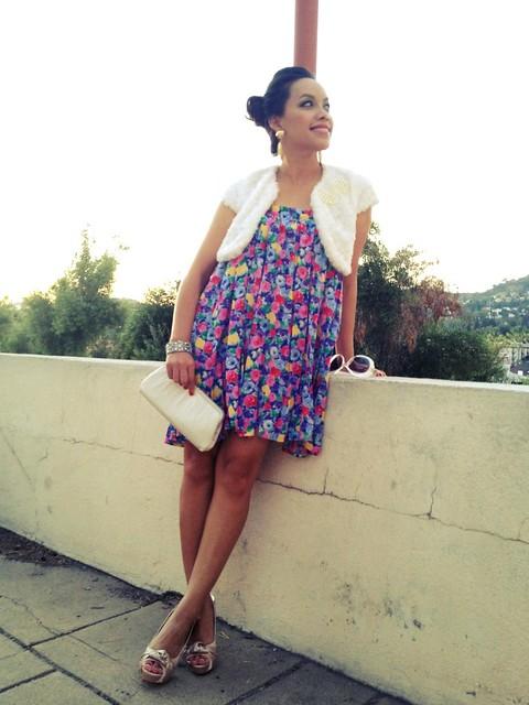 Watercolor Floral Pleats   Instagram-pslilyboutique-los-angeles-fashion-blogger-summer-2012-outfit-ideas