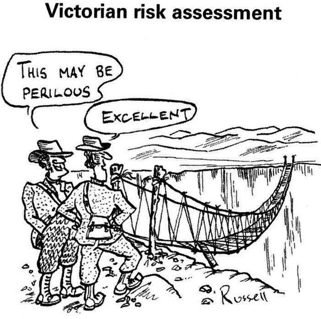 Victorian risk assessment cartoon flickr photo sharing for Gardening risk assessment