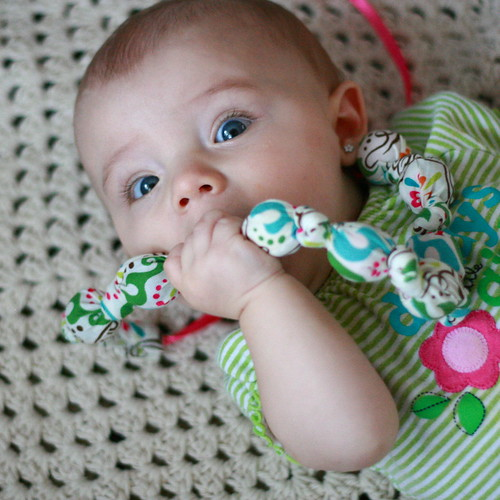 fabric teething necklace