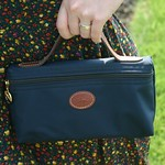 navy longchamp clutch from tag sale in Port Washington