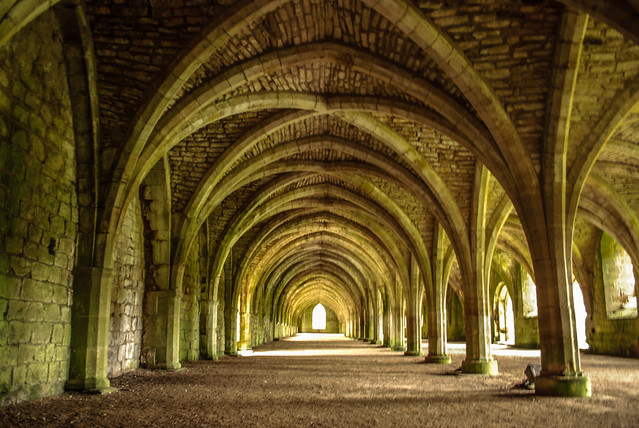 Fountains Abbey - monks' cellarium