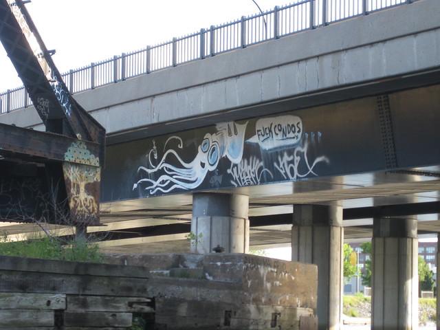 Fuck Condos graffiti