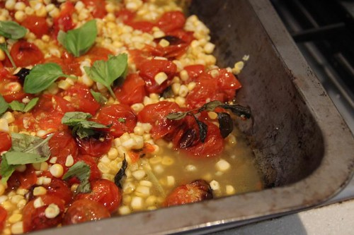Cherry tomato & corn salad